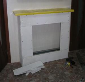 Процес изготовления фальш-камина из гипсокартона